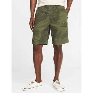 """Old Navy Lived In Khaki Shorts Tropical Palm 10"""""""